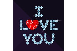 love you diamond heart