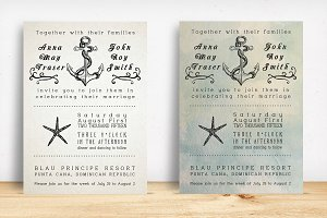 Beach Wedding Invitation Pack