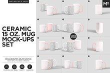 Ceramic 15 Oz. Mug Mock-ups Set