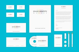 Brand Identity Set: Colored Lines v2