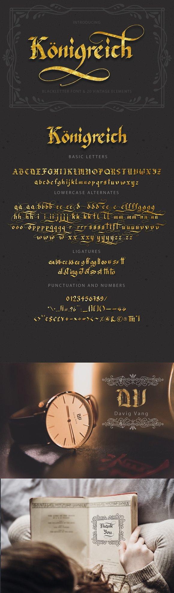 K Nigreich Font