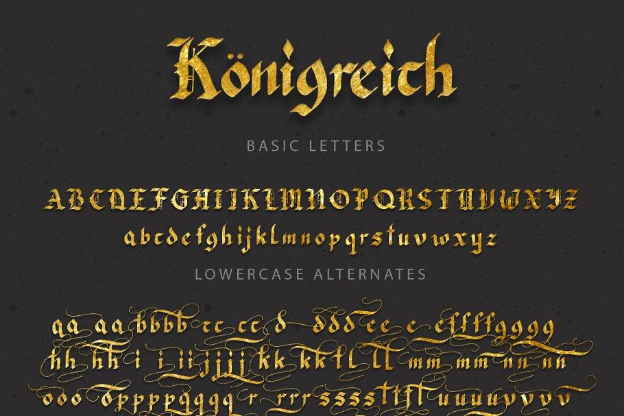 Best Königreich Font Vector
