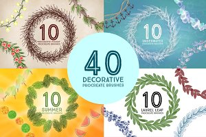 40 Decorative Procreate Brushes