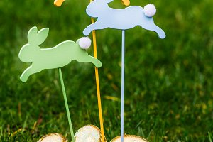 Wooden Bunnies and Golden Eggs as Symbols of Easter