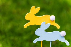 Wooden Bunnies as Symbols of Easter