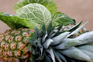 Cabbage and ananas