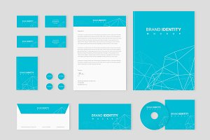 Brand identity Set: Network Polygon