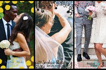 8 Modern Wedding Geofilters Pack by  in Social Media