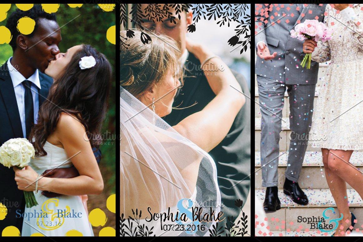 8 Modern Wedding Geofilters Pack