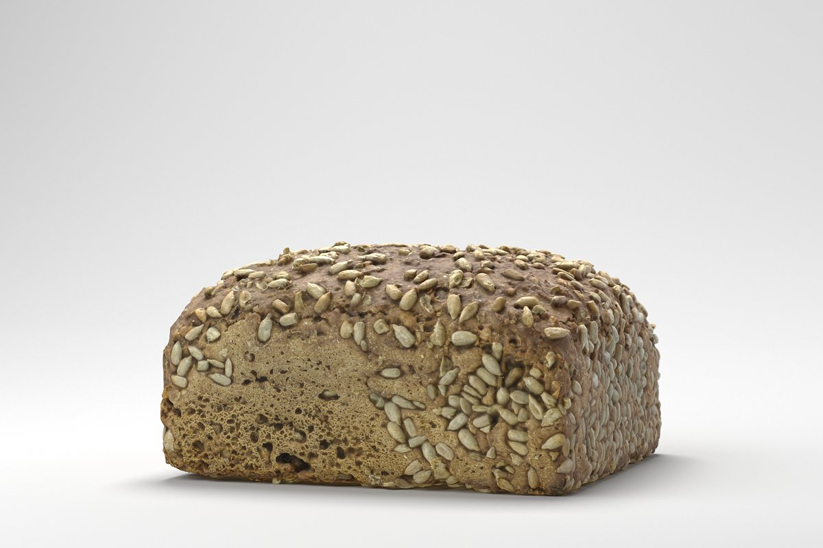 Photorealistic Sunflower Seed Bread