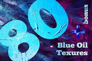 80 Blue Oil Texures + bonus