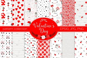 Valentine's Day pattern kit