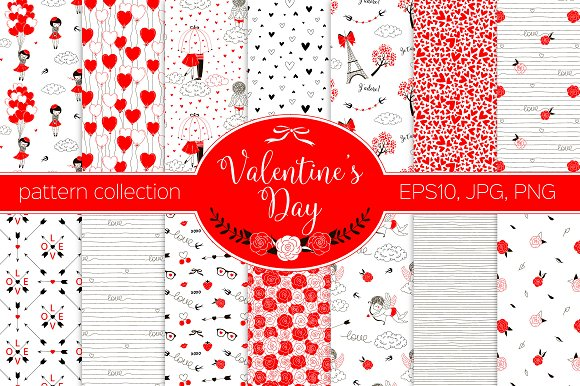 Valentine's Day pattern kit