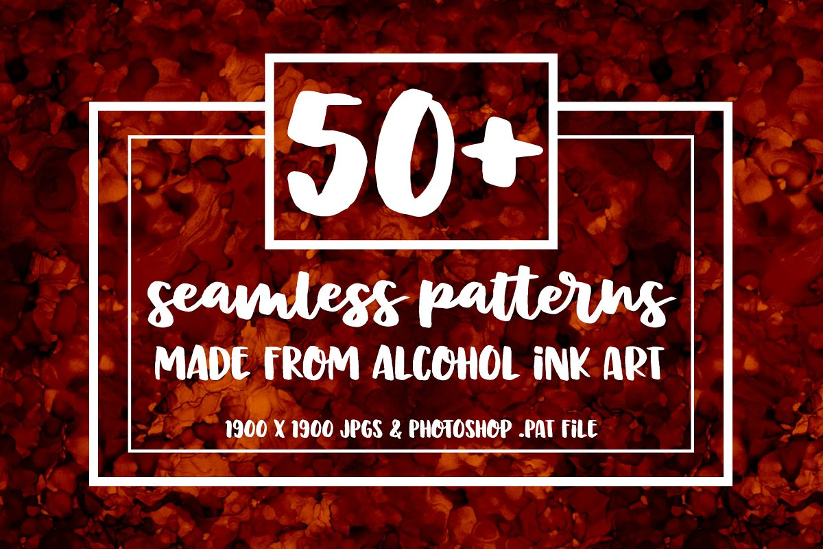 50+ Seamless Alcohol Ink Patterns ~ Graphic Patterns