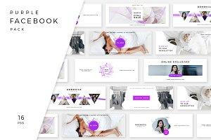 Purple facebook pack