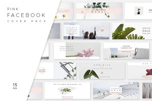 Pink Facebook Cover Pack