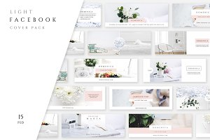 Light Facebook Cover Pack