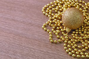 christmas golden balls decoration