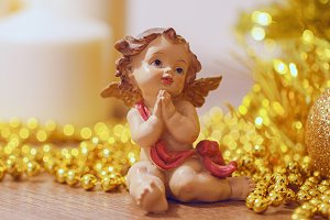 Christmas decoration with angel