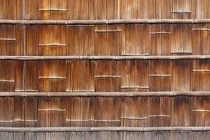 Bamboo wall, Japan