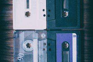 Old music cassettes