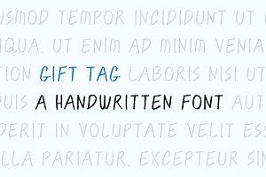 Gift Tag — A handwritten font