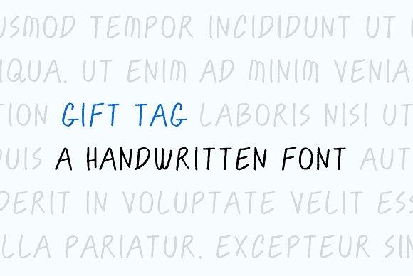Gift Tag A Handwritten Font