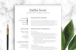 Modern Teacher Resume Template Word