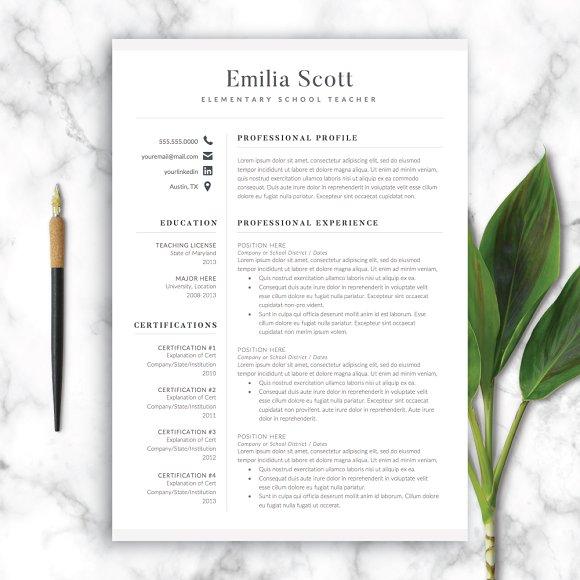 modern teacher resume template word resume templates creative market
