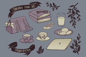 Super pretty everyday items set