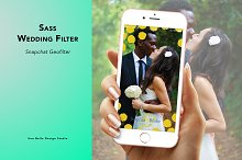 Sass Wedding Geofilter by Justin Ho in Snapchat