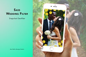Sass Wedding Geofilter
