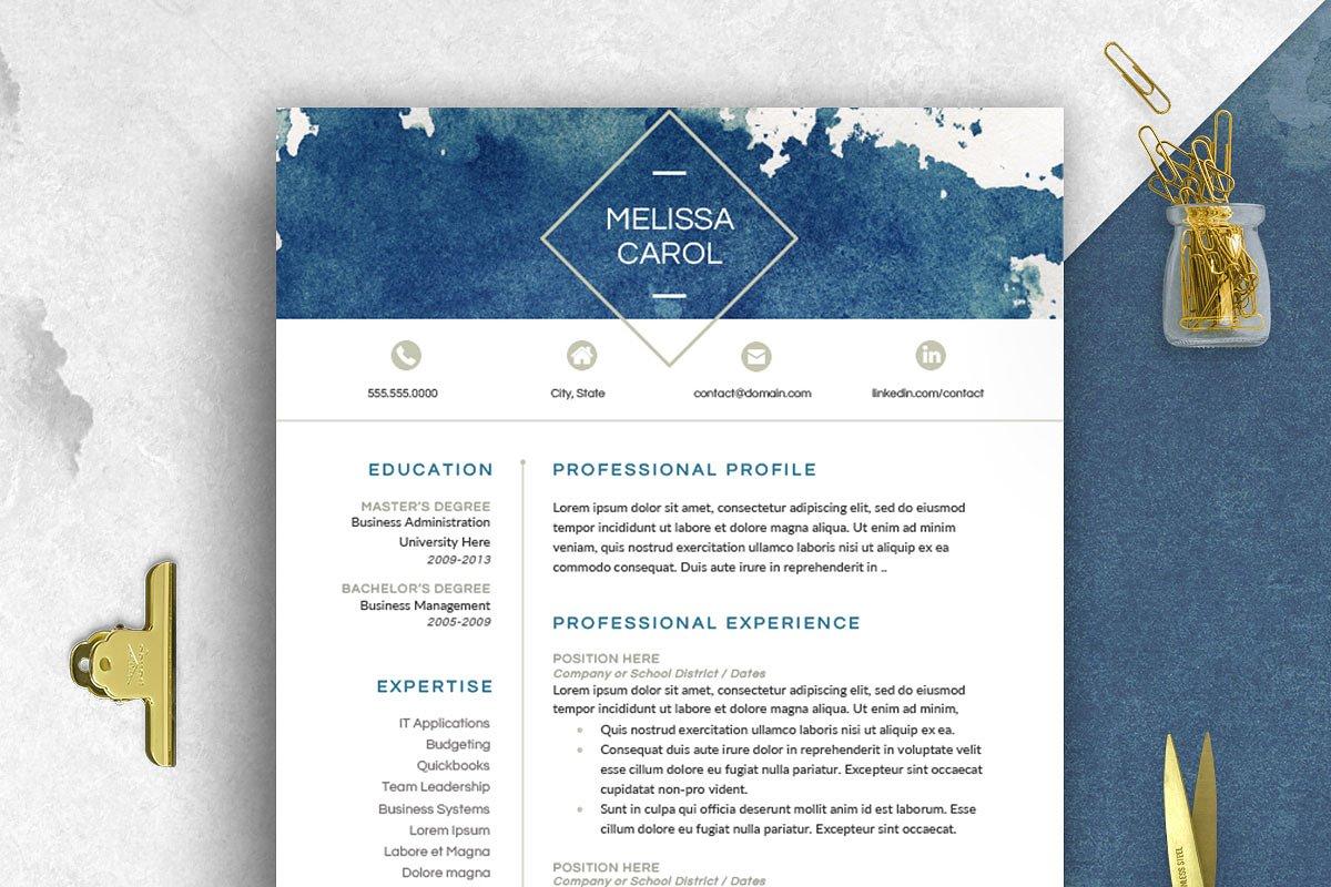 Modern Resume Template Word Resume Templates Creative Market