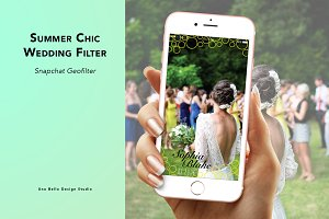 Summer Chic Wedding Geofilter