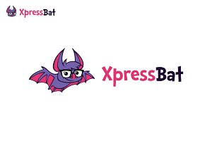 Bat Illustrative Logo