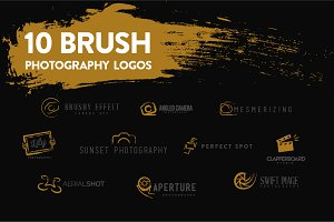 Brush Photography Logo Set