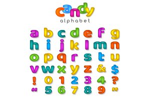 Candy color alphabet