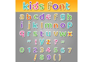 Cute kids patchwork patterns alphabet