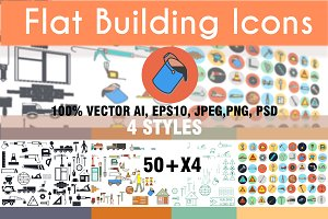 Building tools. Icons set