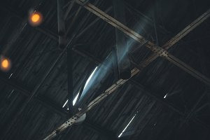 Broken Roof with Light Shining