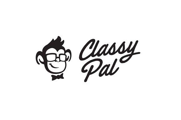Classy Pal - Monkey Head Logo