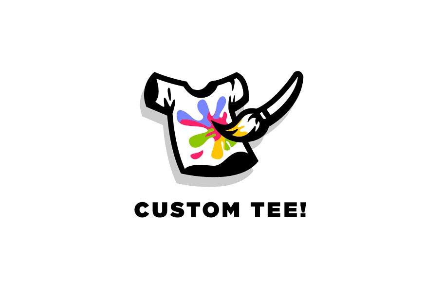 cbd47a99 Custom Tee - Tshirt Logo ~ Logo Templates ~ Creative Market