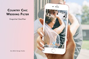 Country Chic Wedding Filter