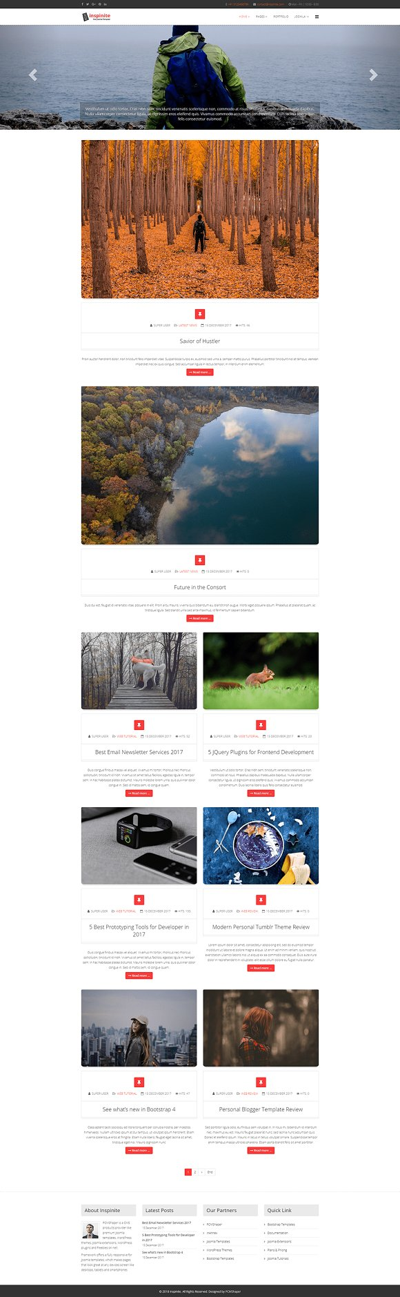 Inspinite Blog Joomla Template