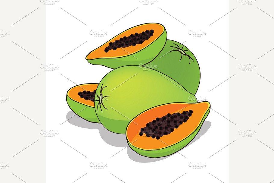 Isolate papaya fruit