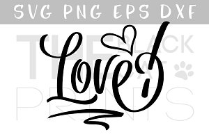 Love SVG DXF PNG EPS