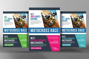 Motocross Race Flyer Template
