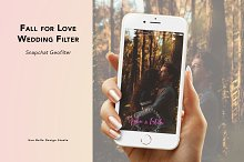 Fall for Love Wedding Geofilter by  in Snapchat