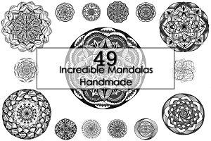 Hand-drawn Mandalas