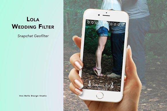Lola Wedding Geofilter